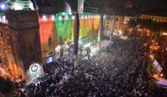 توافد المئات من أتباع الصوفية للمشاركة في الليلة الختامية لمولد الحسين