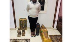حبس طالب بحوزته تابوت ذهبي يشتبه في أثريته بمصر القديمة.. ولجنة لفحصه