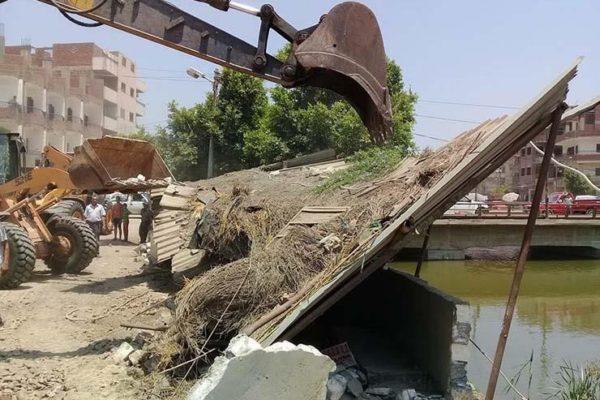 """""""الري"""": إزالة 14 حالة تعدٍ على نهر النيل في ثلاث محافظات اليوم"""