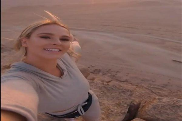 """""""مغامرة بدون إيحاءات"""".. مصادر أمنية تكشف تفاصيل تسلق فتاة روسية الهرم"""