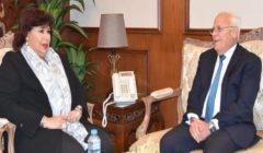 وزيرة الثقافة تبحث تكثيف الأنشطة الإبداعية مع محافظ بورسعيد