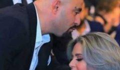 في أول ظهور لها بعد خلع الحجاب أحمد السقا يقبل رأس صابرين