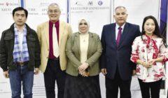 افتتاح معرض الخط الصيني في معهد كونفوشيوس بجامعة قناة السويس