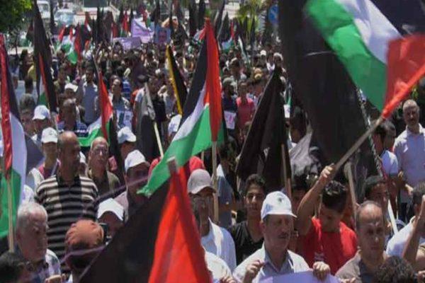 """احتجاجًا على """"صفقة القرن"""".. عشرات الإصابات بالضفة وإضراب في غزة"""