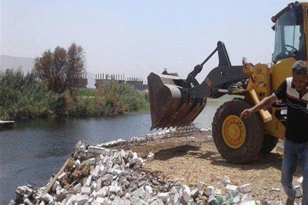 """""""الري"""": إزالة 44 حالة تعد على نهر النيل في تسع محافظات اليوم"""
