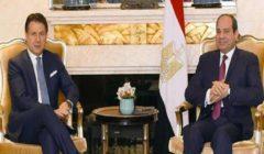 السيسي يستقبل رئيس الوزراء الإيطالي جوزيبي كونتي بقصر الاتحادية
