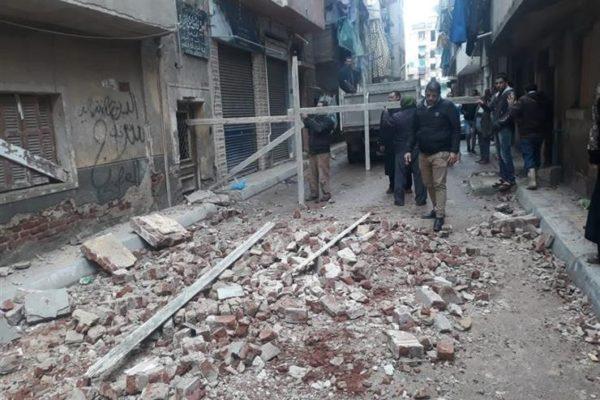 """""""عامر"""" يطالب باتخاذ إجراءات عاجلة بشأن انهيار عقارات بالإسكندرية بسبب الأمطار"""