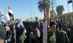 محتجون يواصلون الاعتصام أمام السفارة الأمريكية في بغداد