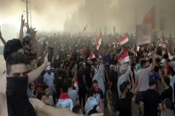 إصابة 18 متظاهرا عراقيا في الناصرية