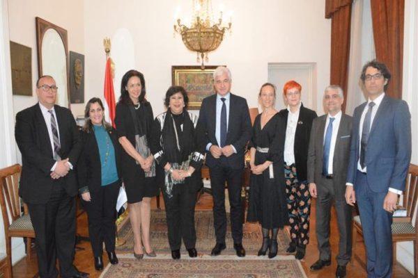 وزيرة الثقافة تلتقي وفدًا ألمانيًا لبحث سبل تعزيز التعاون بين البلدين