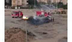 سيارتا إطفاء تمنعان امتداد حريق إلى مخبز ومحطة محمول بالشيخ زايد