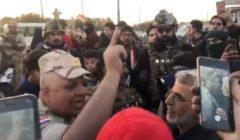 """فيديو لتعهد ضابط عراقي بحماية معتصمي البصرة قبل """"الخيانة"""""""
