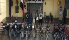 بعد 10 وقائع.. سقوط عصابة سرقة الدراجات النارية في المنيا