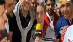 """""""أوه زملكاوي"""".. فيديو: مشجعة روسية للزمالك تشعل حماس الجماهير"""