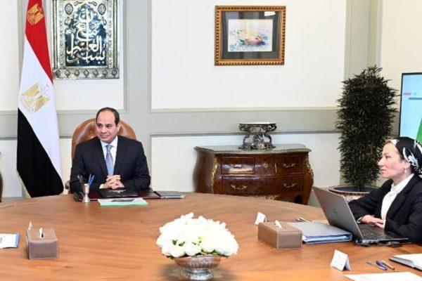 السيسي يلتقي رئيس مجلس الوزراء ووزيرة البيئة