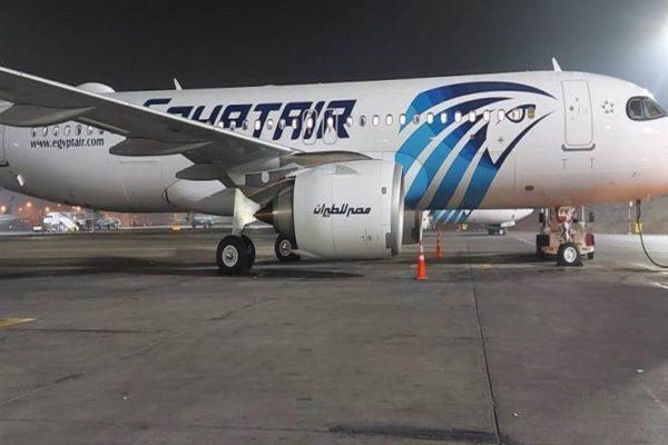 مطار القاهرة يستقبل طائرة مصر للطيران الرابعة الجديدة طراز إيرباص A320neo