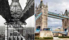 لقطات مذهلة لأكثر المعالم شهرة في العالم في وقت الإنشاء (صور)