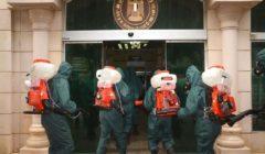 القوات المسلحة تنفذ عمليات تعقيم لمحور صلاح سالم ووزارة التعاون الدولي