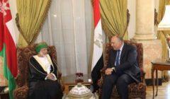 شكري يؤكد لوزير خارجية عمان مساندة مصر لأمن واستقرار دول الخليج العربى