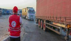 الهلال الأحمر المصري يرسل مساعدات طبية لقطاع غزة لمواجهة كورونا