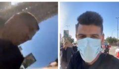 فيديو.. وثق انتهاك حظر التجول فاعتدى عليه مسؤول ديني في كربلاء