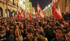 مواجهات بين متظاهرين والأمن في لبنان خلال احتجاجات ضد السياسات الاقتصادية