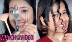 شاهد ماذا حدث لفتاة جعدت شعرها باستخدام شوكة | فيديو