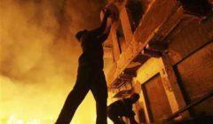 انتداب المعمل الجنائي لمعاينة حريق محل سلع غذائية بالمرج