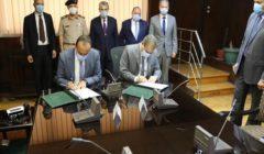 توقيع عقد تنفيذ شبكة الكهرباء الداخلية لمساحة 50 ألف فدان إضافية شرق العوينات