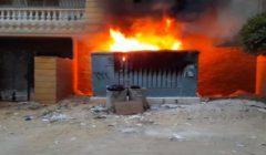 حريق في لوحة كهرباء أمام عقار سكني بحدائق الأهرام