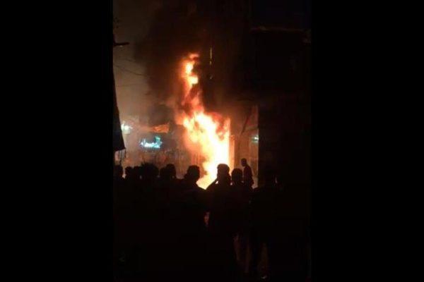 ٧ سيارت إطفاء تخمد حريقًا في مركز تجاري بالشيخ زايد