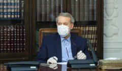 أول ظهور لرئيس مجلس الشورى الإيراني بعد إصابته بكورونا