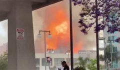 انفجار ضخم يهز لوس أنجلوس الأمريكية | فيديو