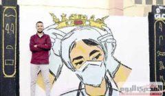 شباب «ديرمواس» يجمل الشوارع بصور الشهداء والفرق الطبية