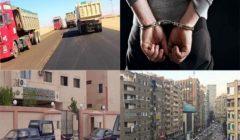 نشرة الحوادث المسائية.. الإفراج عن 530 سجينا ومواعيد حظر سيارات النقل الثقيل