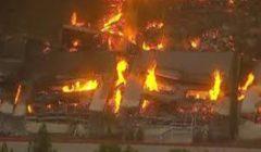 فيديو- حريق في مبنى تابع لشركة أمازون بولاية كاليفورنيا