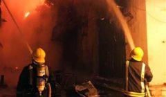 النيران تلتهم محل عطور في بولاق الدكرور