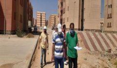 """""""المجتمعات العمرانية"""" تتابع تسليم الأعمال للشركات المنفذة لعمارات الإسكان بمدينة بدر"""