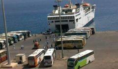 عائدون من الأردن.. وزير النقل يتابع وصول 279 راكبًا مصريًّا إلى ميناء نويبع