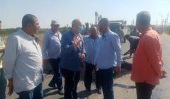نائب محافظ الجيزة يتفقد طريق المريوطية بنطاق مركز ومدينة منشأة القناطر