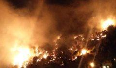 لبنان.. حريق ضخم يشب في جبل مشغرة (فيديو)