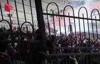 """الأمن يطارد """"الأولتراس""""بمدرجات ستاد القاهرة خلال ودية مصر وتونس"""